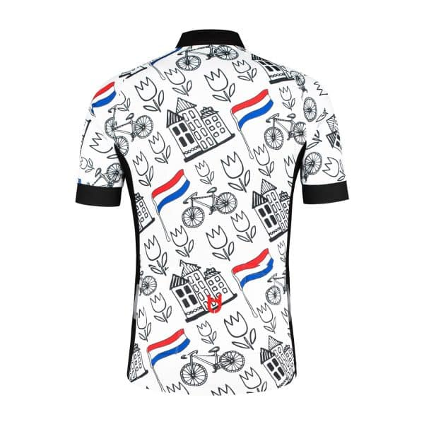 TD cycling jersey back Holland style