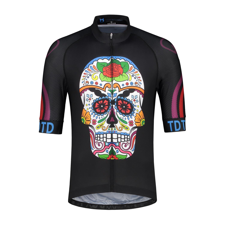 Cycling jersey TD sportswear skull black