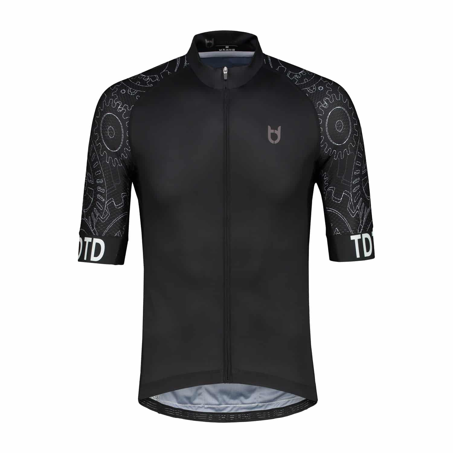 High quality black mechanic cycling jersey td sportswear