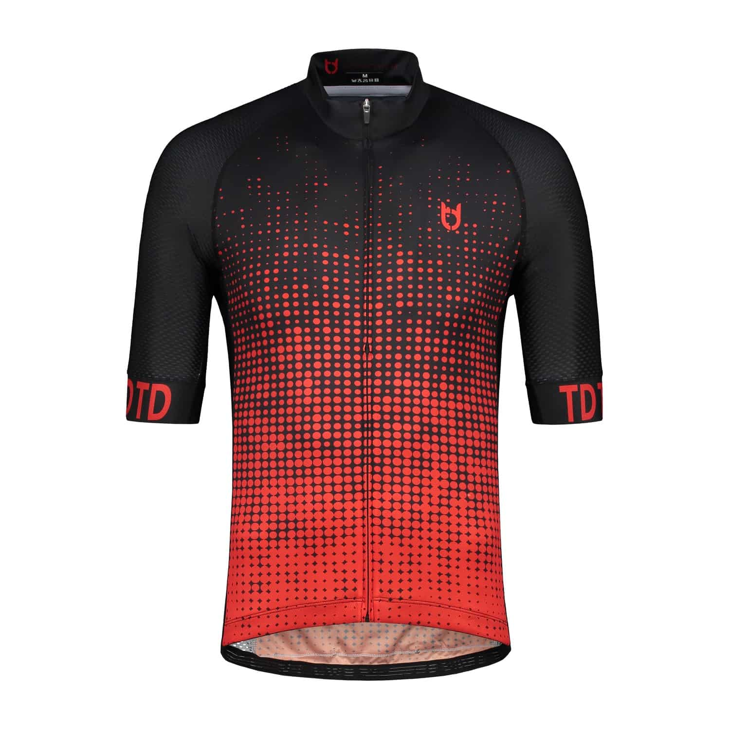 High quality black red cycling jersey td sportswear