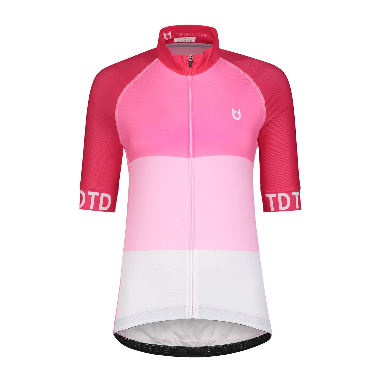 TD sportswear cycling jersey pink