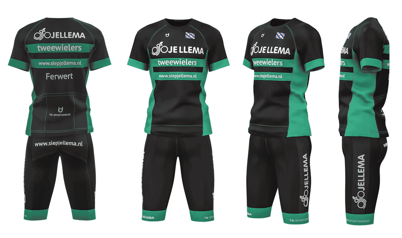 Custom team wear cycling Jellema