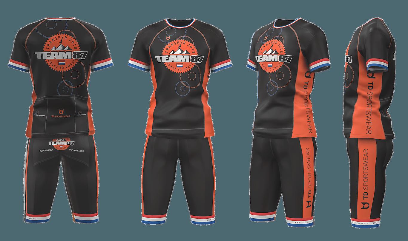 Team 87 cycling team wear custom
