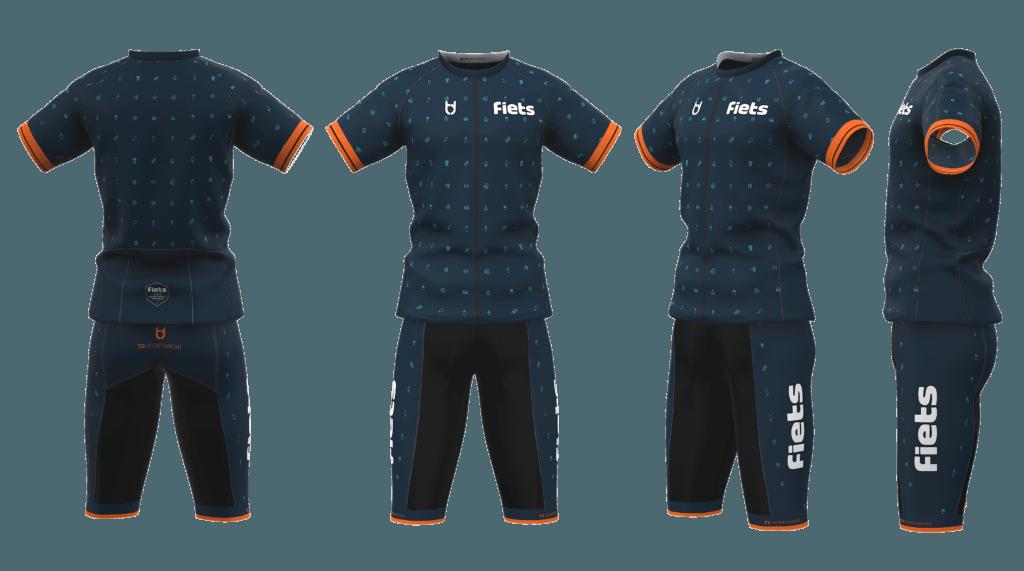 Custom teamkleding de fiets wielerkleding ontwerp