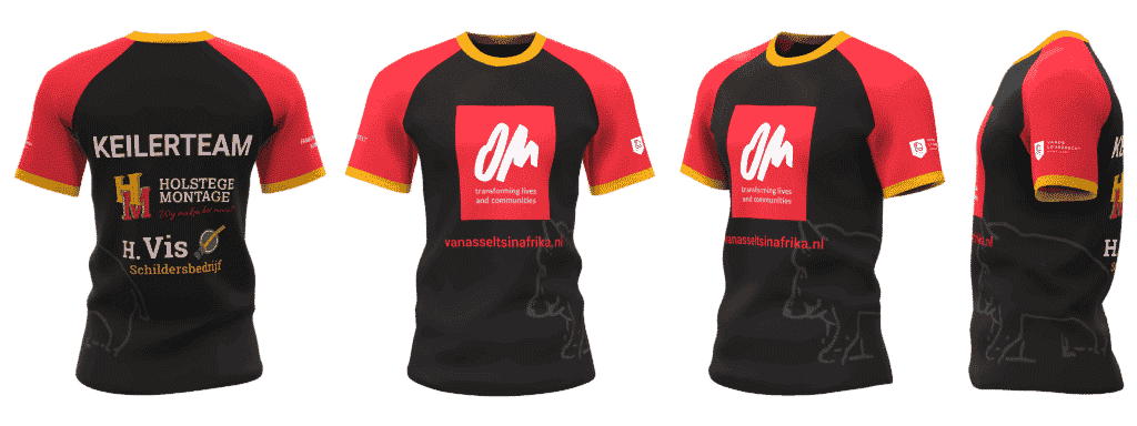 Custom running shirts for teams Keilerteam