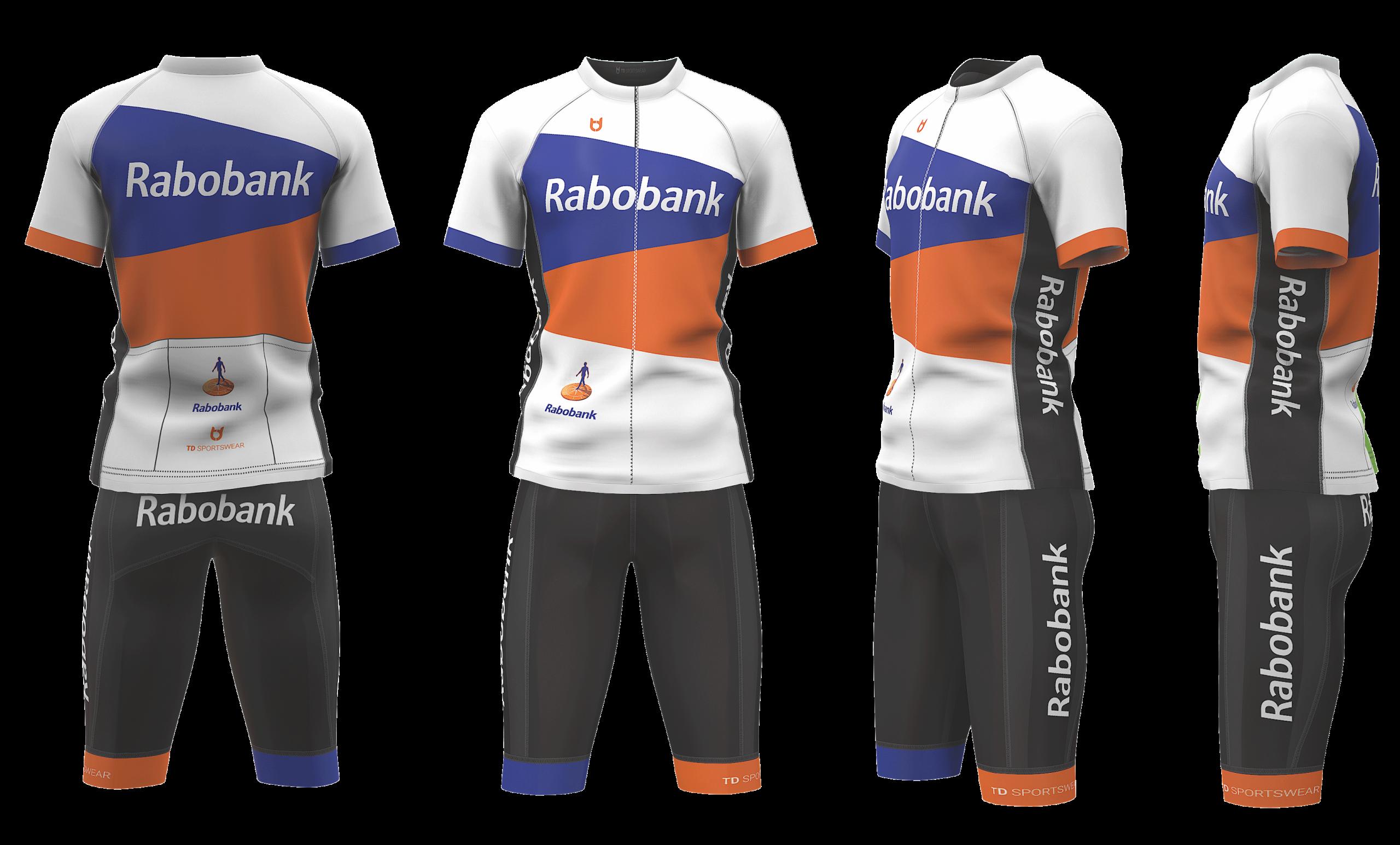 Rabobank wielerkleding ontwerp teamkleding custom