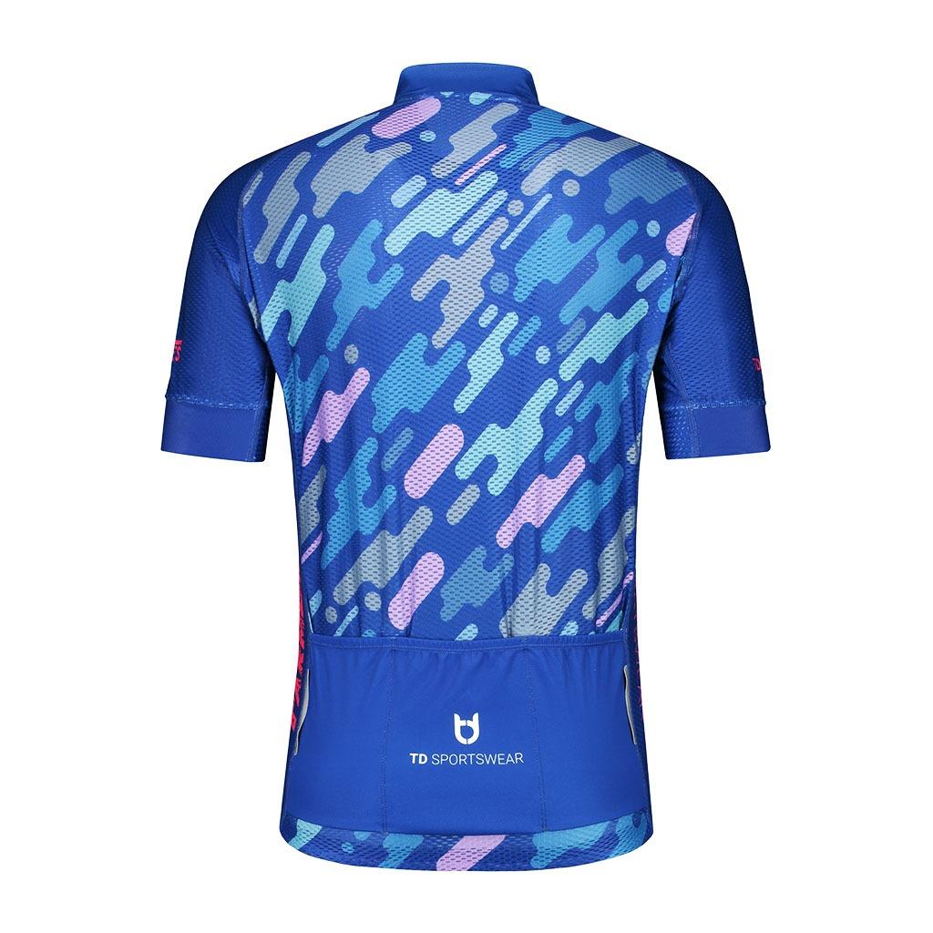 Achterzijde TD sportswear pro 800 fietsshirt