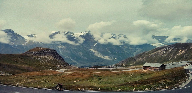 mountains cyclist