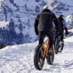 mountainbike sneeuw