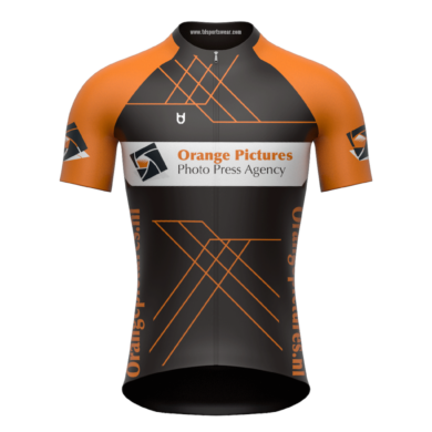 Orange Pictures Johan Verloop custom cycling jersey