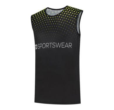 Custom running singlet front side td sportswear
