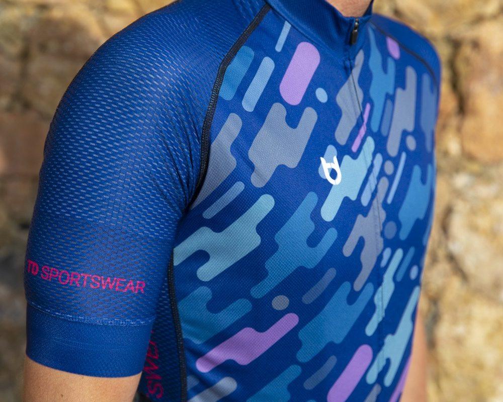 Pro 800 mouw wielershirt detailfoto TD sportswear