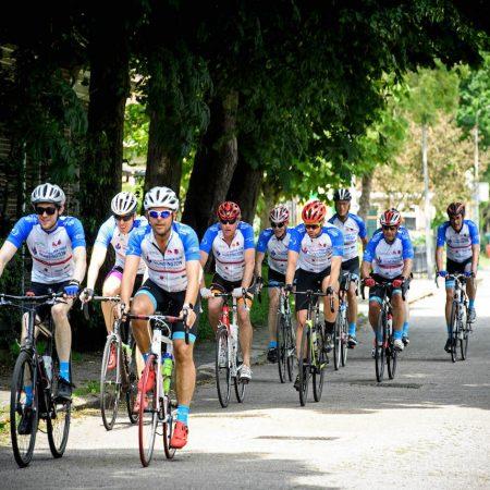 Huntington stichting fietstocht custom wielerkleding TD sportswear