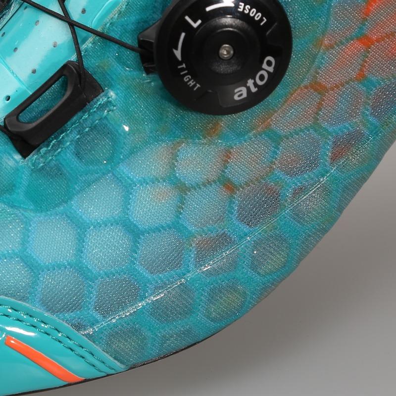 TD one custom wielerschoen ontwerpen detail