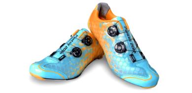 Oranje blauw custom schoen TD One