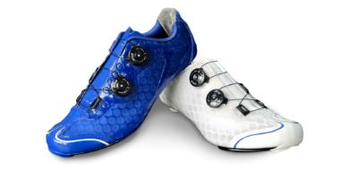 Blauw wit custom fietsschoen TD One
