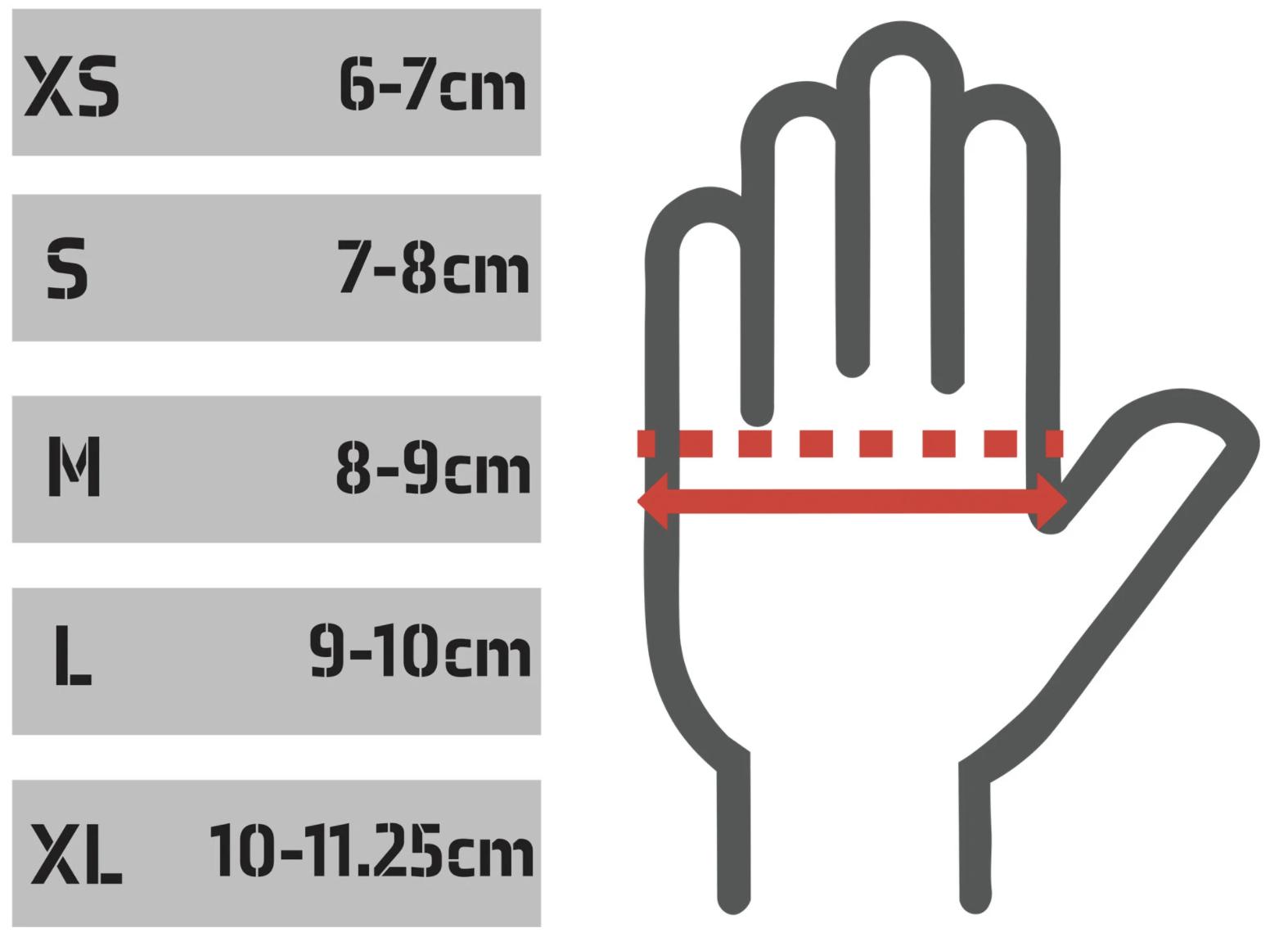 Handschoenen maattabel TD sportswear